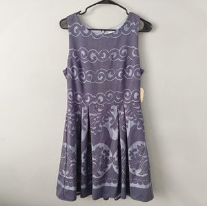 New Altar'd state blue Waves dress large l nwt